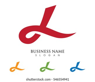 L letter wave Logo Template vector illustration
