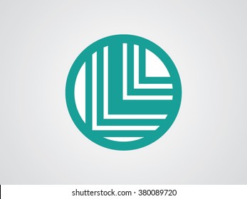 L letters vector logo
