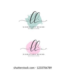 L L LL Initial logo template vector