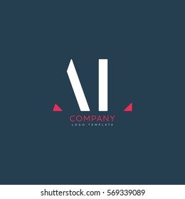 A L logo design for Corporate