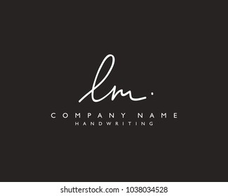 L M Initial handwriting logo