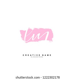 L M LM Initial logo template vector