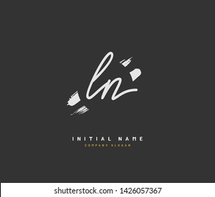 L N LN Beauty vector initial logo, handwriting logo of initial signature, wedding, fashion, jewelry, boutique, floral and botanical with creative template for any company or business.