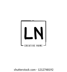 L N LN Initial abstract logo concept vector