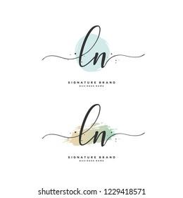 L N LN Initial logo template vector