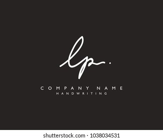 L P Initial handwriting logo