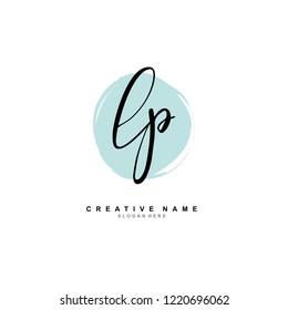 L P LP Initial logo template vector