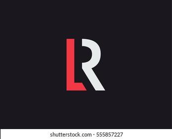 L & R Letter Logo concept. Premium Line Alphabet Monochrome Monogram emblem. Graphic Symbol for Corporate Business Identity. Vector graphic design template element