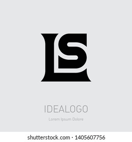 L and S initial logo. LS initial monogram logotype. SL - Vector design element or icon.