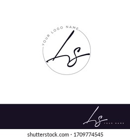 L S LS Initial letter handwriting and signature logo.