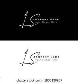 L S LS Initial letter handwriting and signature logo. Beauty vector initial logo .Fashion, boutique, floral and botanical