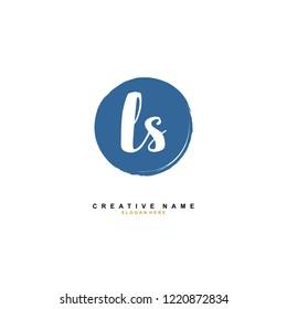 L S LS Initial logo template vector