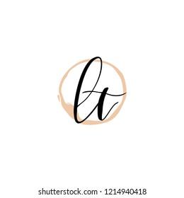 L T LT Initial logo template vector
