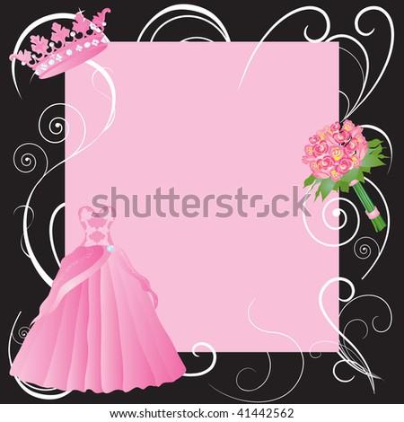 La Quinceanera Party Invitation Invitation Girls Stock Vector