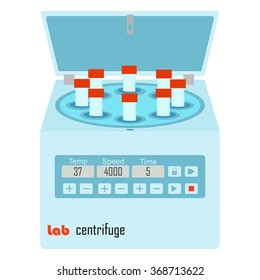 Lab centrifuge with vacutainers - laboratory equipment for chemical and biological experiments
