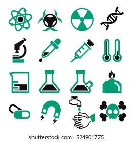 lab, chemistry, science icon set