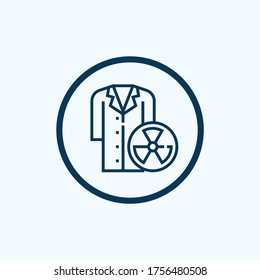 Lab coat icon isolated on white background from science collection. lab coat icon trendy and modern lab coat symbol for logo, web, app