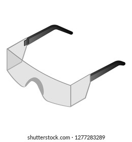 Lab glasses icon. Isometric of lab glasses vector icon for web design isolated on white background