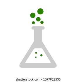 Lab icon. vector flask - science symbol - chemical laboratory research