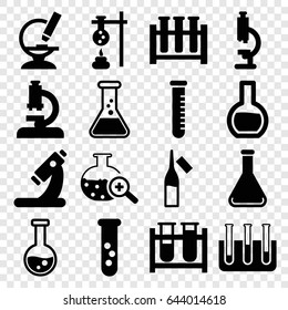 Lab icons set. set of 16 lab filled icons such as test tube, microscope, ampoule