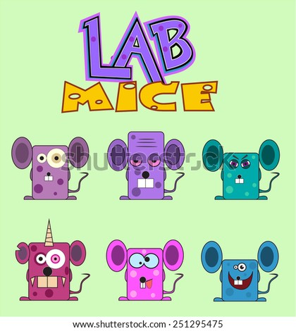 lab mice set vector characters laboratory mice stock vector royalty