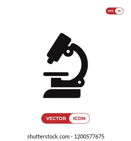 Lab microscope vector icon
