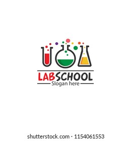 lab school, a logo for education