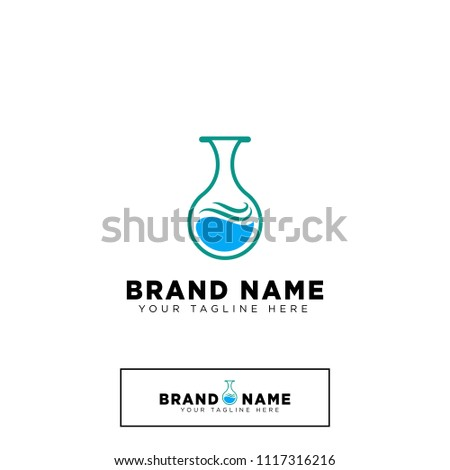 Lab Science Experiment Logo Template Stock Vector Royalty Free
