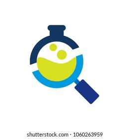 Lab Search Logo Icon Design