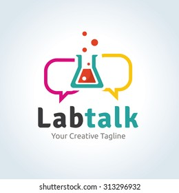 Lab Talk Vector Logo template
