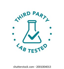 Lab tested round vector badge icon design