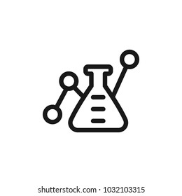 lab testing icon vector