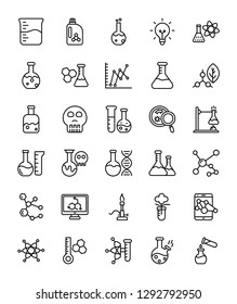 Lab Testing Line Vector Icons