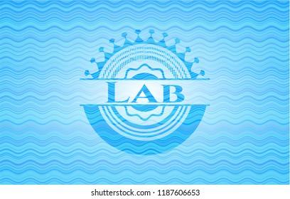 Lab water representation badge.