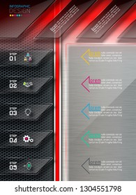 Label abstract infographics and website elements.