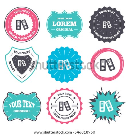 Label And Badge Templates Document Folder Sign Accounting Binder Symbol Bookkeeping Management