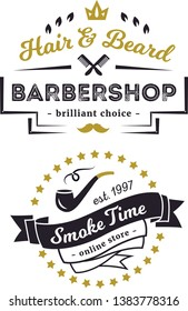 label barbershops and smoker times