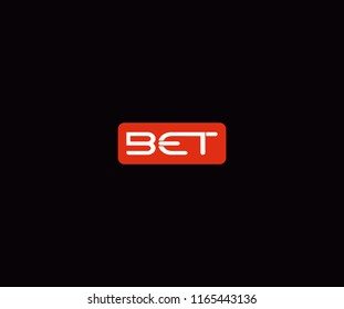 label BET letter logo template