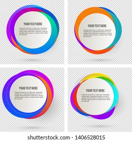 Label blank template, white background and Blurry gradient with lines circle ring. Vector illustration EPS 10. Modern design editable layout title page for new product newsletters, web banners