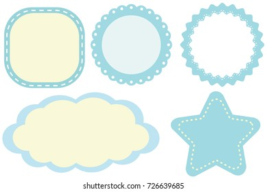 labels lacy borders set stock vector royalty free 179252516