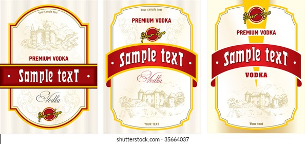 Label design - vodka