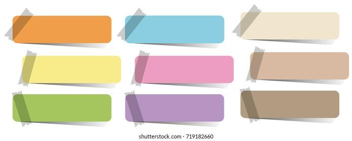 Label designs in nine colors