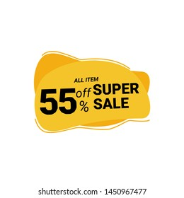 label discount 55% off vektor