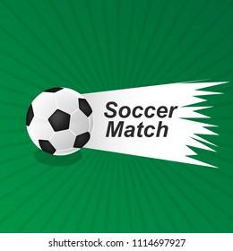 Label Football Soccer match logo icon poster design