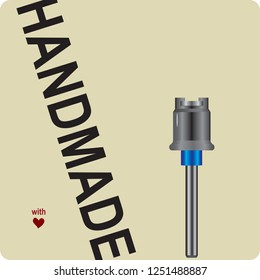 Label for handmade with fastening for abrasive tools
