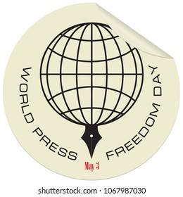 Label for the holiday of May 3 - World Press Freedom Day