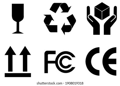 Label icons for international packaging information