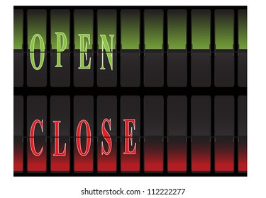 label for open and closed