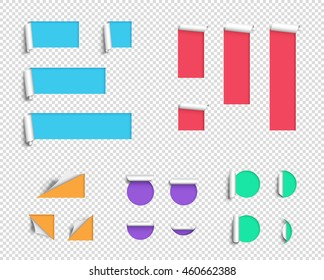 Label Origami Blank 3d Big Vector Template Transparent