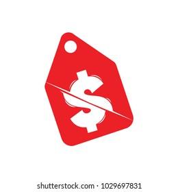 label price cut symbol vector